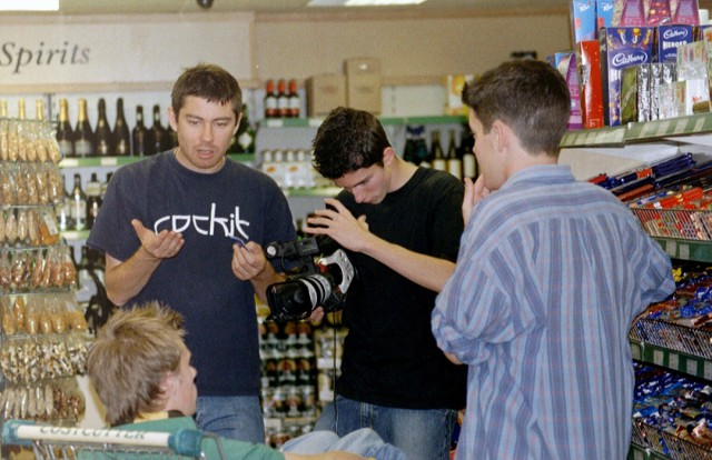 Filming taking place in a shop