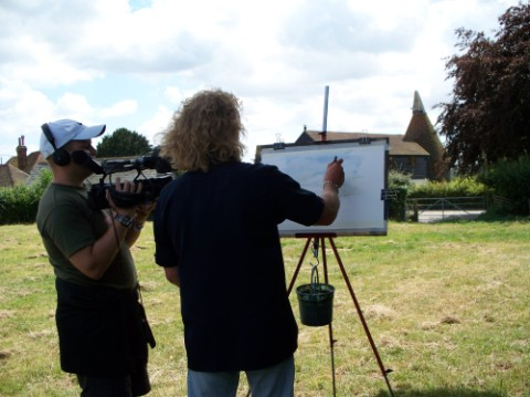 Charles Evans Painting on Location © Orion TV