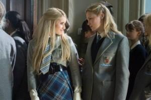 Emma Roberts (Poppy) and Kimberley Nixon (Kate) having a conversation.