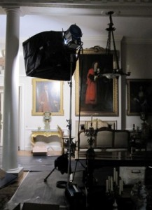 Filming Emma at Squerreys Court