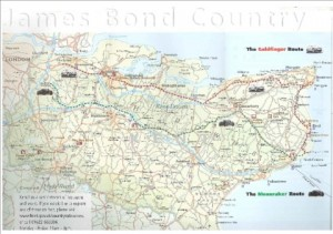 James Bond Kent map