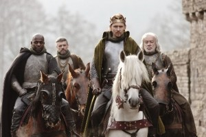 Henry V - Duke of York (Paterson Joseph), Earl of Salisbury (Richard Clothier), Henry V (Tom Hiddleston) and Earl of Westmoreland (James Laurenson)