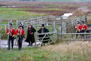 Behind the scenes with soliders filming at Oare Marshes