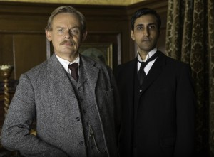 Martin Clunes as Arthur and Arsher Ali as George ©ITV/DOYLE 2014 LTD