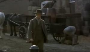 The Mill on the Floss screenshot at The Historic Dockyard Chatham - a man walking along a street