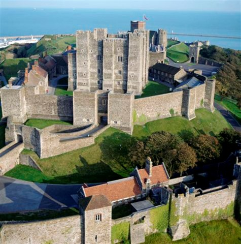 Aerial view of Dover Castle © Channel 4