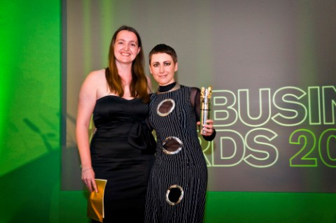 Tanya Oliver Head of Strategic Development with Anna-Marie Buss winner of the Kent Creative Industries Award© Priory PR