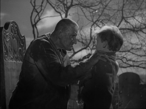 Great Expectations Abel Magwitch grabbing a young Pip by the neck at a graveyard