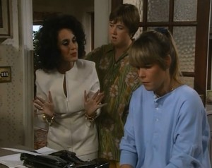 Birds of a Feather - Dorien Green (Lesley Joseph), Sharon Theodopolopodos (Pauline Quirke) and Tracey Stubbs (Linda Robson)