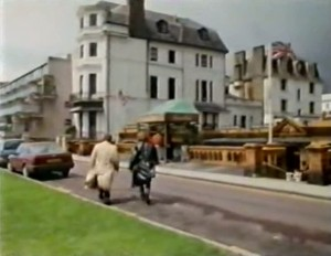 Characters walking at The Leas Club, Folkestone screenshot