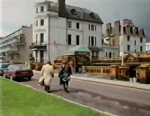 Characters walking at The Leas Club, Folkestone screenshot