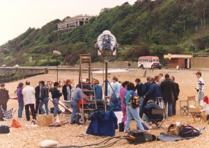 Behind the scenes on Folkestone seafront
