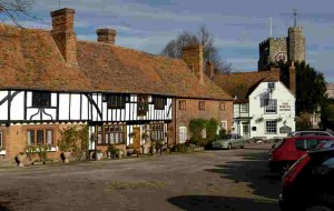 Chilham Tudor village square