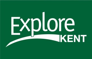 Explore Kent Logo- Explore Kent written in white on a green background., Links to their website.