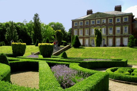 Exterior photo of Goodnestone House and gardens.