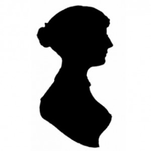 Black Silhouette of a women on a white background.