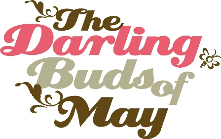 The Darling Buds of May logo- words written in brown, grey and pink