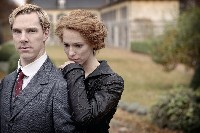 Christopher Tietjens with wife Syliva leaning against his shoulder. A house can be seen in the background.