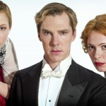 Parade's End L-R Valentine Wannop (Adelaide Clemens), Christopher Tietjens (Benedict Cumberbatch) Sylvia Tietjens (Rebecca Hall)