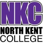 North Kent College logo- NKC written in purple on a white background, North Kent College underneath in black. Links to their website.
