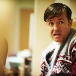 Derek (Ricky Gervais) staring at the camera