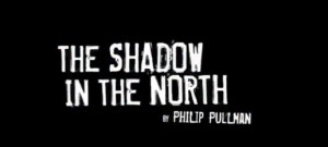The Shadow in the North logo- The Shadow in the North written in white on a black background