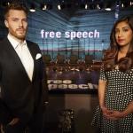 Free Speech presenters Rick Edwards and Tina Daheley