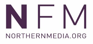 Northern Media Logo- NFM written in purple on a white background with Northernmedia.org written underneath.