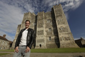 Dan in front of Dover Castle keep