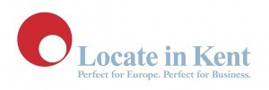 Locate in kent Logo- Locate in kent written in red on a white background, to the right of a red and white circle. Perfect for Europe, Perfect for Business written underneath in blue. Links to Their website.