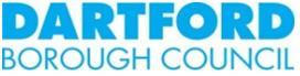 Dartford Borough Council Logo- Dartford Borough Council written in blue on a white background - Links to Dartford Borough Council Website.