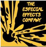 The Especial Effects Company Logo- The Especial Effects Company written in orange on a black Links to Their website.
