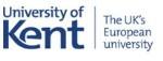 University of Kent Logo- University of Kent written in blue on a white background, the uk's european University written to the right. Links to Their website.