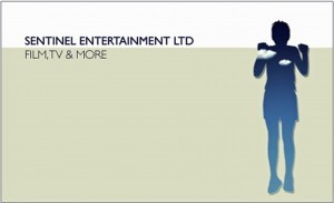 Sentimental Entertainment LTD Logo- Sentimental Entertainment LTD written in black on a white background, Film, TV & More written underneath on a grey background. Outline of a person to the right. Links to Their website.