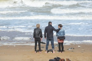 © BBC Linda Henry, Danny Dyer and Luisa Bradshaw-White at Ramsgate