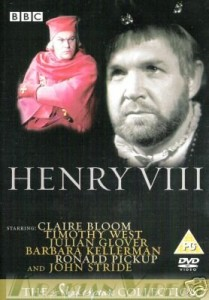 Henry VIII dvd cover- images of two tutor men on a black background. Henry VIII written in white underneath