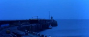 Folkestone Harbour Arm at night