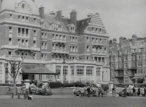 exterior of The Metropole hotel and pavement in front