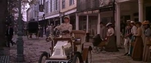 A shot from the movie of a car outside the Pantiles