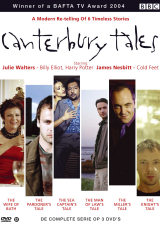 Canterbury Tales DVD cover- montage of images from the film, with canterbury tales written in black above