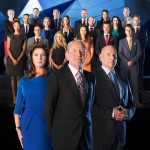 The Apprentice Contestant with Karren Brady, Lord Sugar, Claude Littner