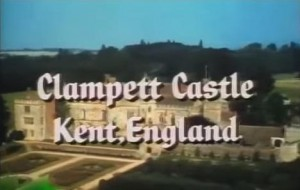 Penshurst Place with the writing Clampett Castle, kent, England on top