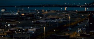 The Port of Dover drone shot at night