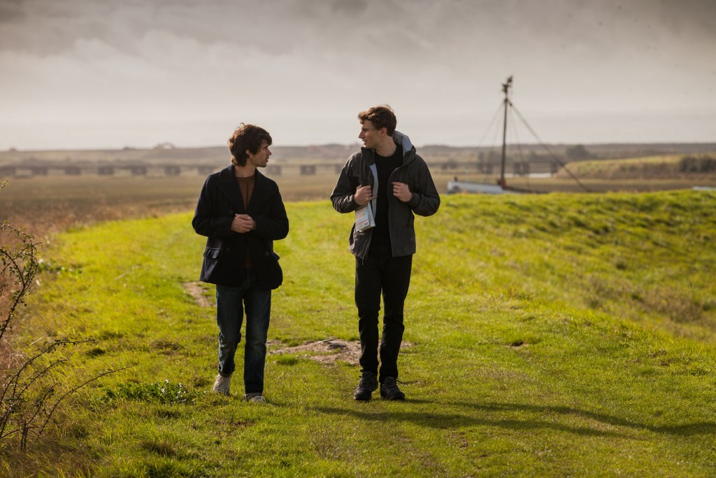 Danny (BEN WHISHAW) and Alex (EDWARD HOLCROFT) in the countryside at Isle of Grain