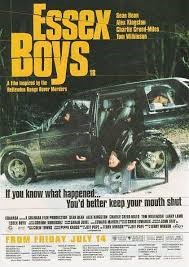 Main poster of the Essex Boys production- black car with essex boys written in yellow