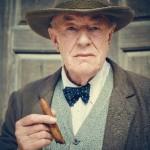 Churchill's Secret - Michael Gambon as Winston Churchill holding a cigar