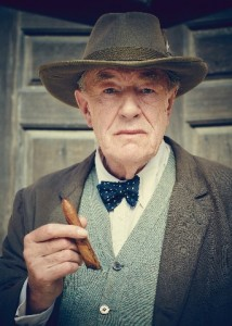Churchill's Secret - Michael Gambon as Winston Churchill holding a cigar