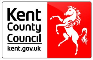 Kent County Council Logo- Kent county council written in black underlined with Kent.gov.uk underneath. To the right a white Invicta horse on a red background.