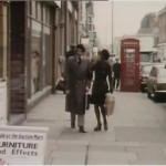 Michele Dotrice as Betty and Michael Crawford as Frank Spencer walking down Herne Bay High Street