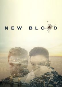 New Blood written in balck, Stefan (MARK STREPAN) and Rash (BEN TAVASSOLI) headshots in front of a derelict landscape